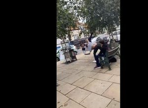 Photo of VIDEO.  In England, man unwittingly attacks 16-year-old world martial arts champion