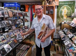 Photo of Jean-Louis Maisin, 72, fiercely independent and transformist record store