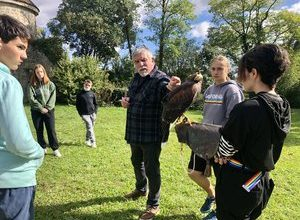 Photo of Nerac.  At the agricultural school, the falconry option takes off