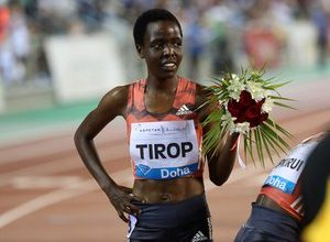 Photo of Kenyan athlete Agnes Tirop, 4th in the Tokyo Olympics over 5,000m, stabbed to death