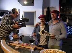 Photo of Fleurance.  Parisian TV is interested in the products of the Gers table