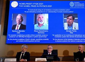 Photo of Nobel Prize in Physics awarded to two climate experts and an Italian theorist